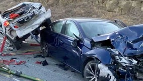 1 person airlifted with major injuries after Altamont Pass head-on collision