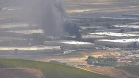 Firefighters working to contain blaze at commercial building near Napa County Airport