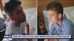 Rome jury convicts 2 Bay Area friends for police officer's murder
