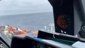 Engine room fire contained on container ship off Monterey coast