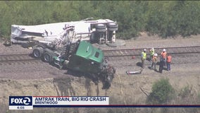Amtrak train collides with big rig outside of Brentwood