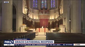 Grace Cathedral in San Francisco holds first in-person mass in 14 months