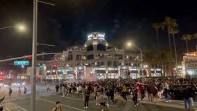 Thousands gather in Huntington Beach after viral TikTok; 150 arrested