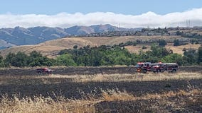 Grass fire in San Jose controlled at 10-acres