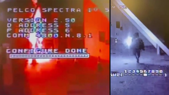 VIDEO: Suspect firebombs LAPD's Topanga Station with Molotov cocktail