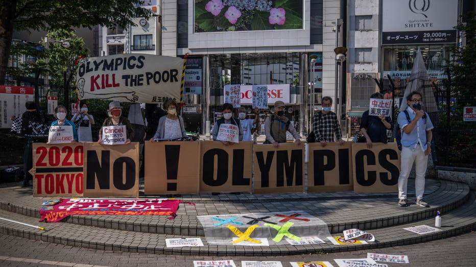 Anti-Olympics Protest Takes Place In Tokyo