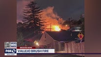 Fireworks blamed for brush fire that spread to South Vallejo neighborhood