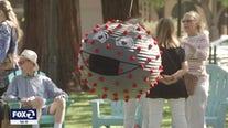 COVID protein piñata a main attraction at Los Gatos reopening celebration