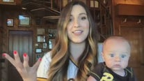 California mom goes viral after catching foul ball while holding baby