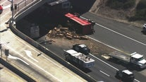 Sig-Alert issued after big rig overturns on I-80 in Pinole