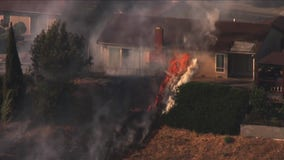 Fire spreading in Vallejo, threatens multiple homes