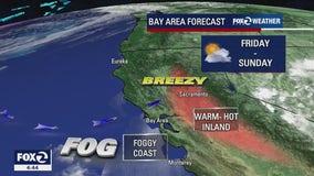 WEEKEND FORECAST: Warm inland, foggy along the coast