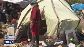Tensions flare as homeless encampment along Sausalito waterfront is cleared