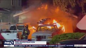 Car fire in Fremont spreads to garage