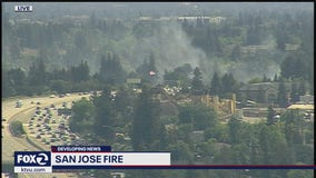 Firefighters responding to separate blazes in San Jose
