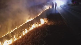 Illegal sideshow of 100 cars and fireworks spark blaze on Livermore hillside
