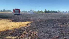 Grass fire sparked by mower burns nearly 5 acres in Santa Rosa
