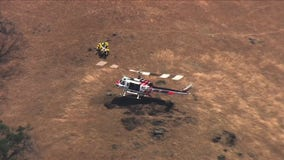 Vehicle plunges off hillside near Lick Observatory