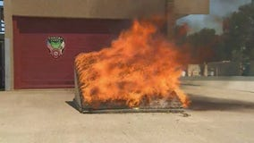 Contra Costa County firefighters demonstrate the dangers of illegal fireworks