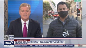 6-story San Francisco apartment building catches fire