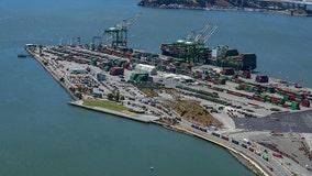 Giant crane on ship set to pass under Golden Gate Bridge Thursday morning
