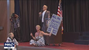 Protesters disrupt Bay Area congressional town hall, claim medical freedom and privacy rights