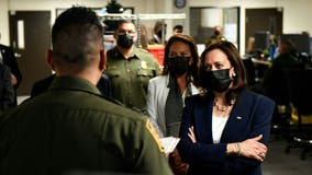 On border tour, VP Kamala Harris cites 'progress' in 'tough' situation