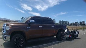 Livermore police searching for driver who backed over police motorcycle