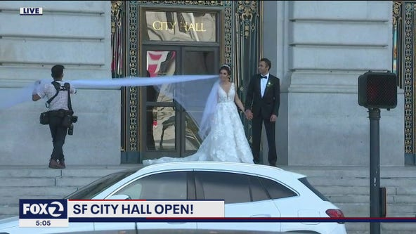 In-person weddings return to San Francisco City Hall