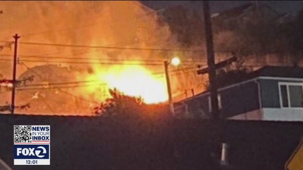 """Vallejo homeowner shows property damage after """"wall of fire"""" breaches home"""
