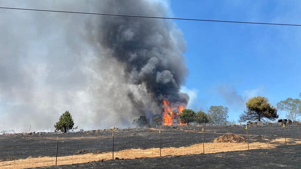 Wildfire prompts evacuations in Yuba County, including Beale Air Force Base