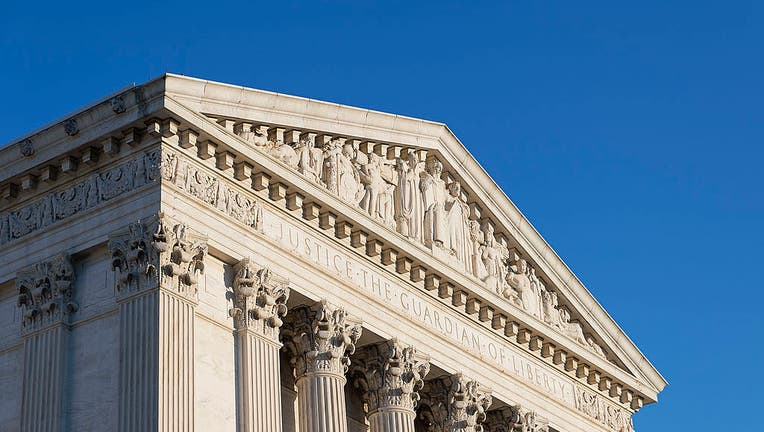 The eastern facade of the U.S. Supreme Court building is pictured in a file image dated June 1, 2013. (Photo by John Greim/LightRocket via Getty Images)