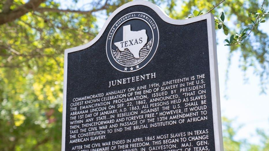 Juneteenth historical marker