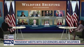 Western US governors meet with President Biden to discuss current wildfires