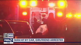 Girlfriend arrested after running over boyfriend with car
