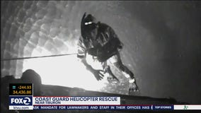 U.S. Coast Guard conducts helicopter rescue near Tiburon