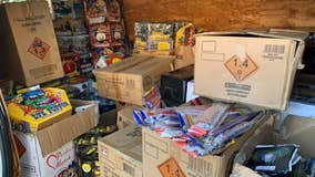 Two men arrested for allegedly selling fireworks out of a van in Newark
