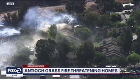 Antioch brush fire spreads to apartment complex