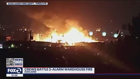 Oakland homeless encampment fire might have started 3-alarm warehouse inferno