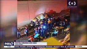 Deadly crash along I-580 in Emeryville