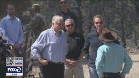 Newsom tours devastation left by Tamarack Fire, asks federal government for more help