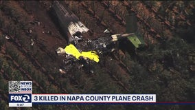 3 killed in small plane crash in Napa County