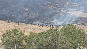 35 acres burned after Concord vehicle fire spreads to nearby brush