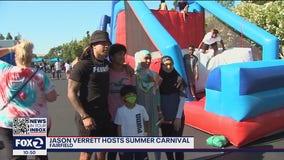 San Francisco 49ers cornerback Jason Verrett hosts summer carnival in Fairfield