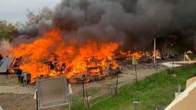 Oakland homeless encampment fires triple, some are arson