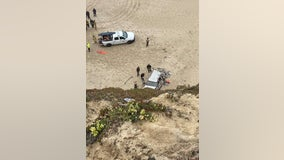 Driver dead after vehicle plunges over cliff, lands on Pescadero State Beach