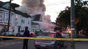 Fire starts at vacant West Oakland home, spreads and displaces eight people