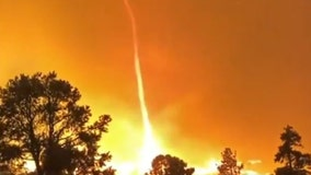 Dramatic 'fire whirl' spotted near Northern California and Nevada border