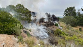 Plane goes down into a home in Monterey County, sparks grassfires