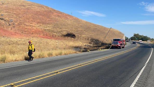 Firefighters battle multiple vegetation fires in Santa Clara County